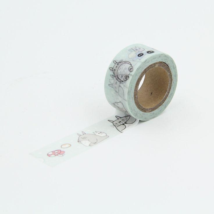 Cogumelo bonito japonês Washi fita adesiva Scrapbooking DIY decoração embalagem etiqueta do presente adesivos decorativos(China (Mainland))