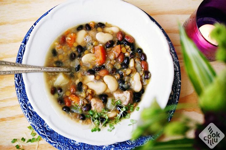 zupa fasolowa z soczewicą