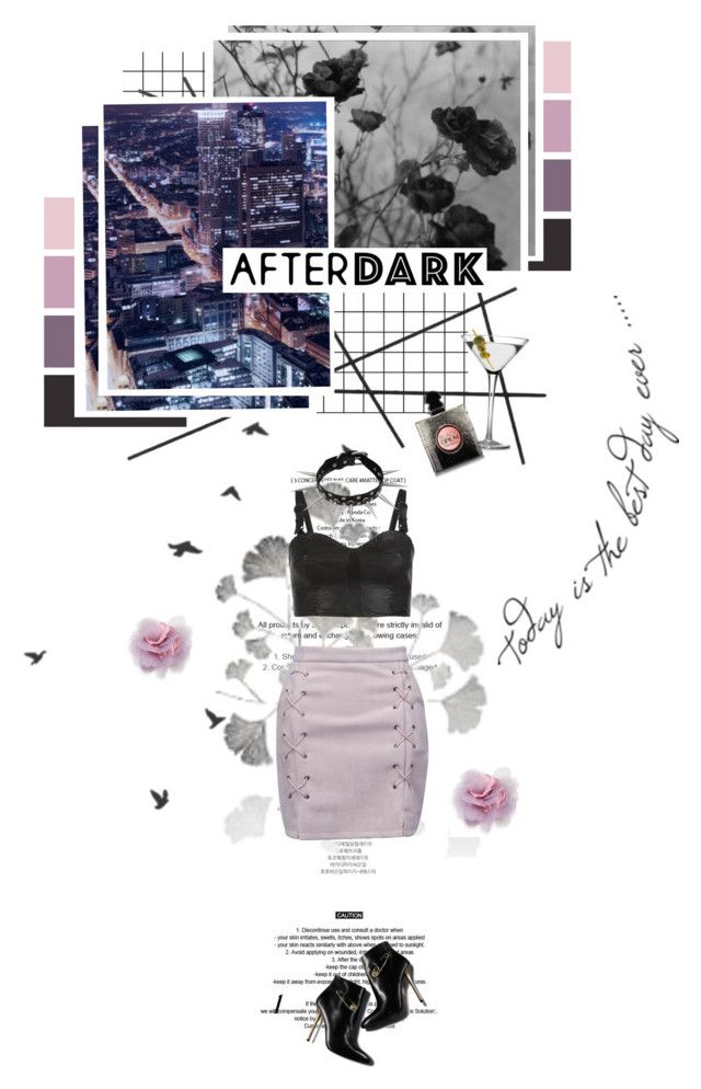 """""""After Dark Outfit~"""" by nickianna ❤ liked on Polyvore featuring StyleNanda, Marks & Spencer, CB2, WithChic, AllSaints, Yves Saint Laurent and Cara"""