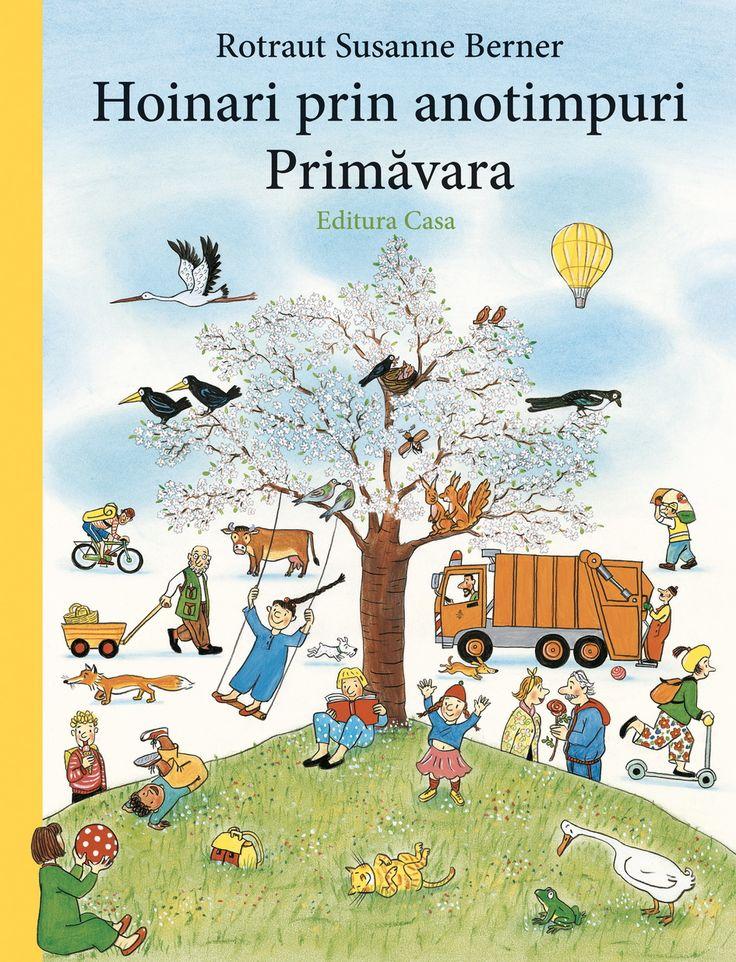 Urmărind imagine cu imagine, copiii se bucură să descopere activitățile specifice primăverii și să creeze noi și noi povești pe baza ilustrațiilor din carte.