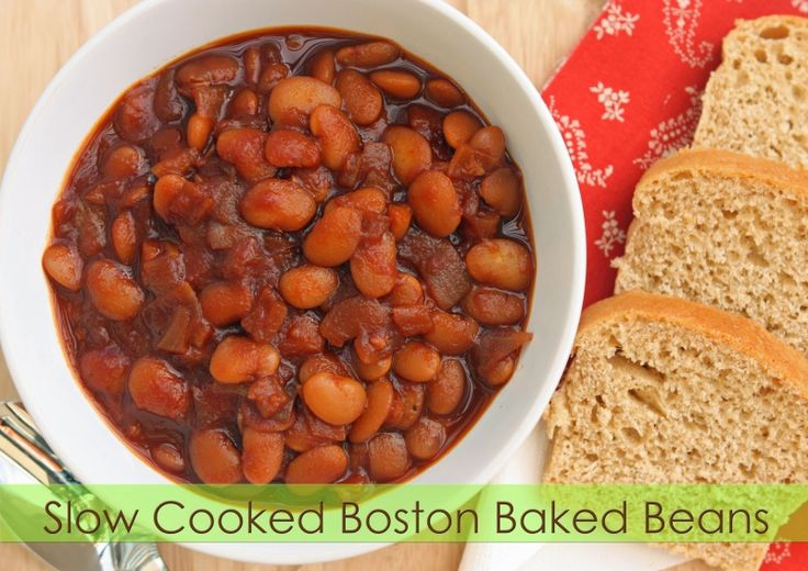 slow cooked boston baked beans | Side Dishes, Vegetables | Pinterest