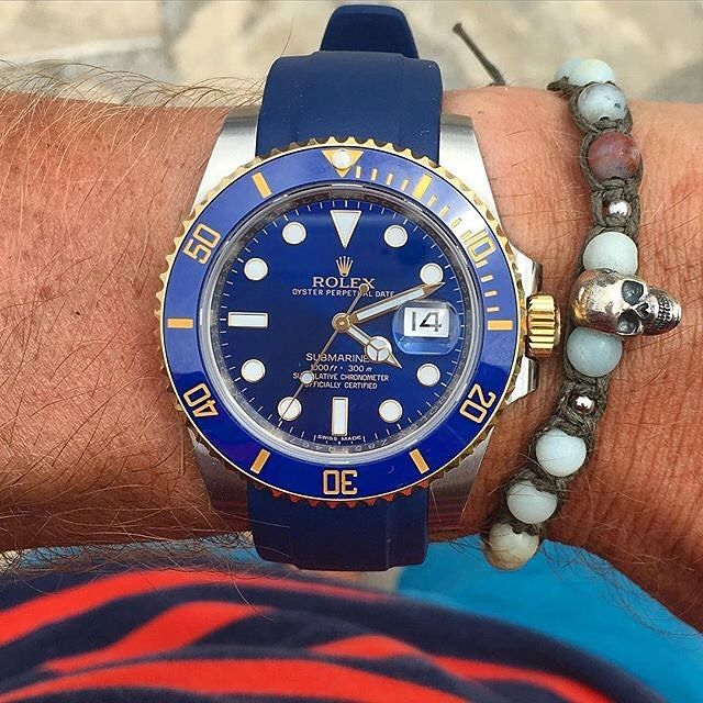 Everest Rubber replacement watch band for Rolex Submariner
