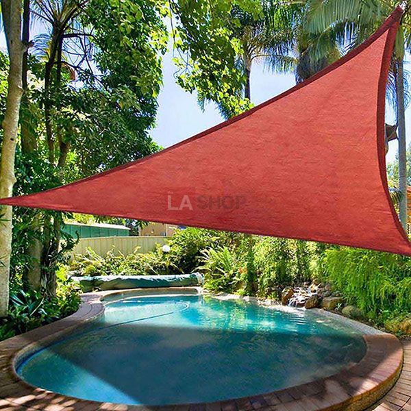 11.5' Triangle Outdoor Sun Shade Sail Canopy Color Opt