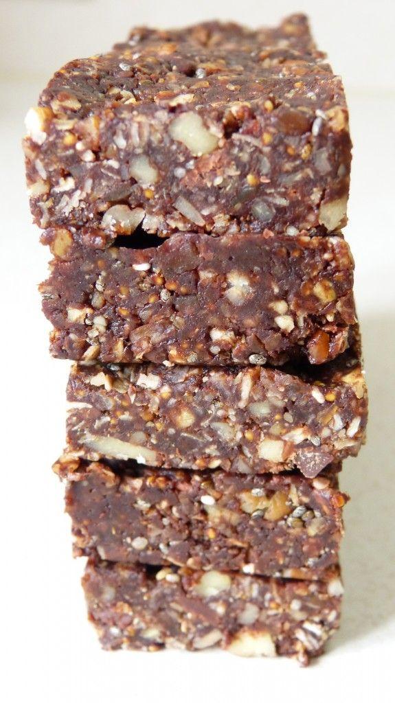 Barres de céréales énergétiques façon brownies sur latassefumante.com