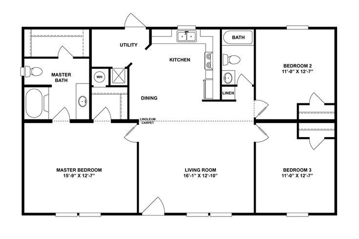 Floorplan mvp spec 28x48 44 29mvp28443ah oakwood for 28x48 floor plans