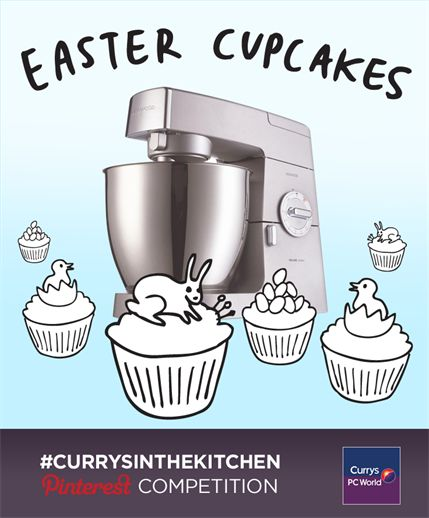 Nothing says Easter to us except kids running round the kitchen stealing a cupcake before a big roast lunch. It's frustrating, but we love it! Show us what you'd pair Easter cupcakes with to win a fantastic baking set that your whole family can enjoy. Tweet us a link to your Easter board with #Currysinthekitchen to be in the chance to win a Easter baking set. T&Cs here:  http://po.st/esTkC