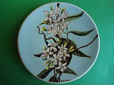 GUY BOYD COOKTOWN ORCHID PLATE WALL PLAQUE J. FRENCHAM AUSTRALIAN POTTERY in Pottery, Glass | eBay
