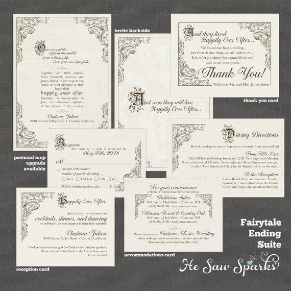 Fairytale Invitations Wedding: FairyTale Printable Wedding Invitation