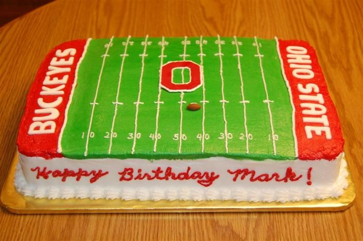 Ohio State Buckeyes birthday cake