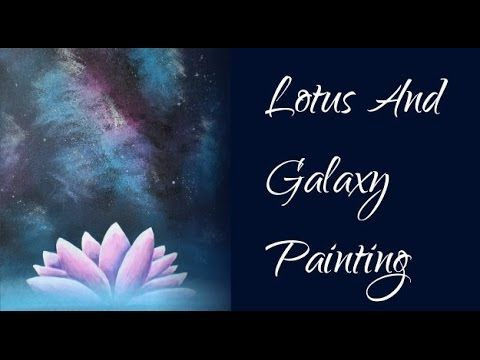 How to paint a lotus flower - Acrylic Painting Time Lapse