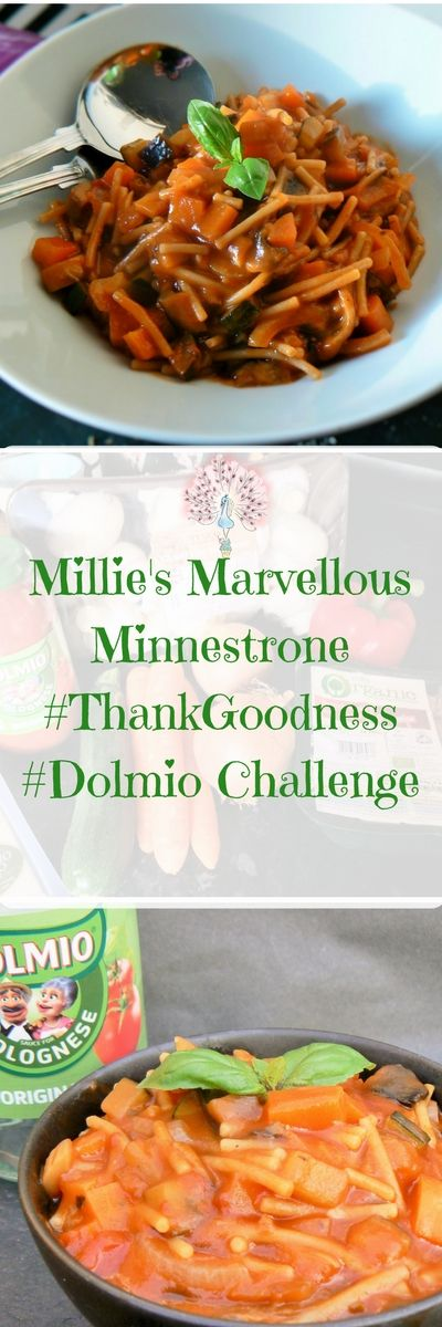 #ThankGoodness #Dolmio with Britmums. Need a speedy midweek meal, full of veg that the little people will love? Look no further - I give you Millie's Marvellous Minnestrone with Parmesan Crusted Aubergine & Courgette Sticks! Vegan & Glutenfree!