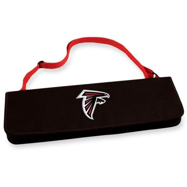 Picnic Time  Atlanta Falcons Metro Bbq Tote (72 CAD) ❤ liked on Polyvore featuring home, kitchen & dining, black, bbq grill tool set, barbeque tool set, bbq tool set and barbecue tool set