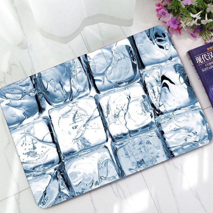 Honana WX-340 Summer Ice Print Alfombra de goma para piso Alfombra para casa suave antideslizante Cuarto de baño Alfombra #BathroomRugs