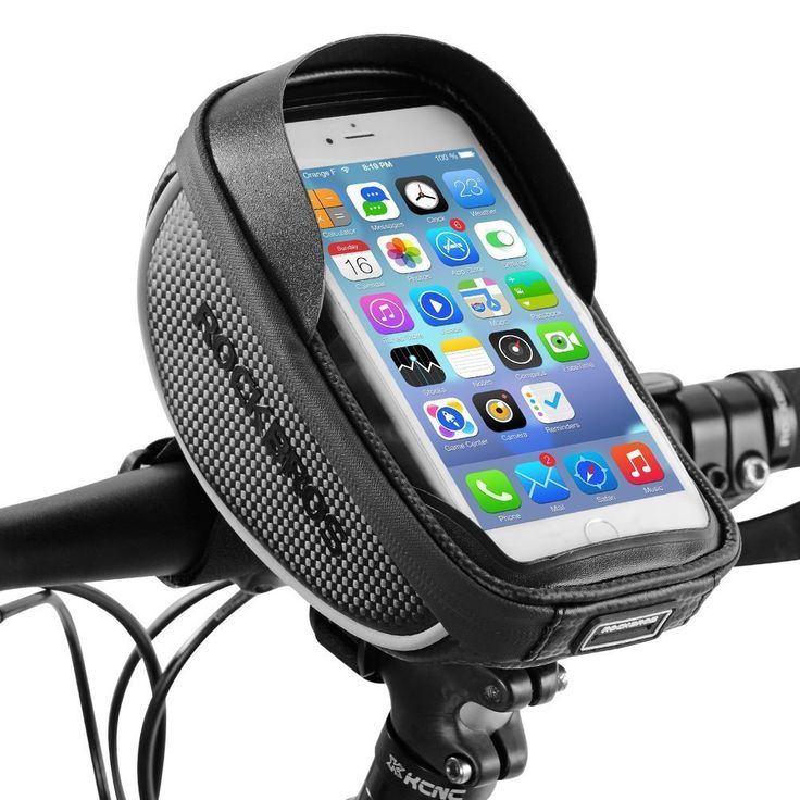 RockBros 6.0 Inch Touch Screen Waterproof Front Tube Bicycle Frame Bag Black
