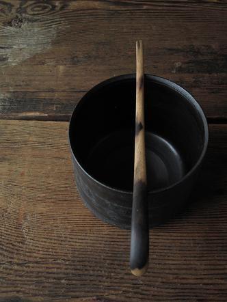 wooden scoop for tea ceremony by kozan-japan