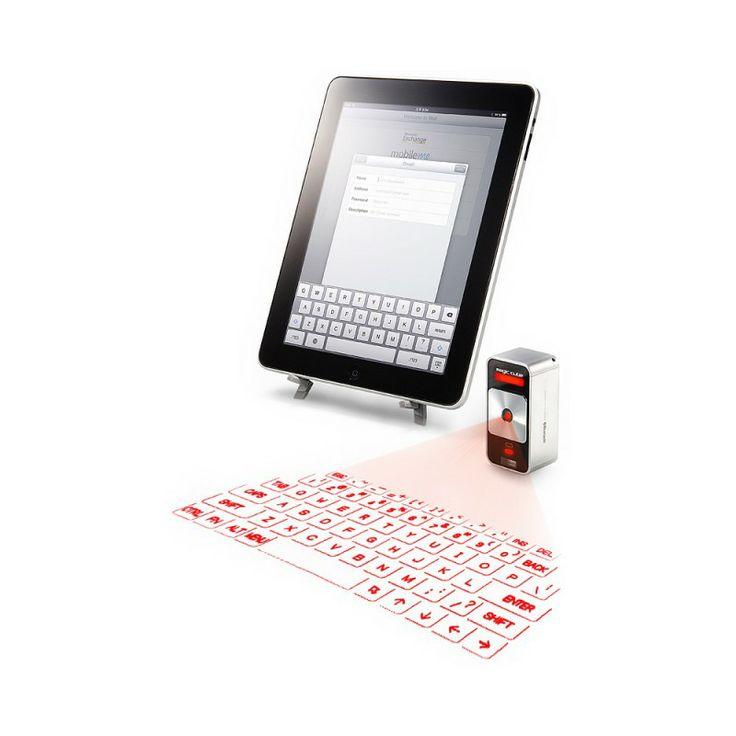 Celluon Magic Cube - Przenośna, pełnowymiarowa klawiatura projekcyjna. Pozwala wygodnie korzystać z urządzeń posiadających małe przyciski nawigacyjne lub ekran dotykowy, symulując pełnowymiarową klawiaturę w dowolnym miejscu i czasie.