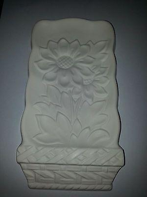 sunflowers ceramic bisque ready to paint  handmade