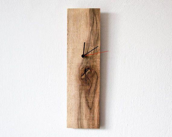 Rustic Wall Clock Rectangular Wall Clock Modern Wall Clock Unique Clock OOAK 019