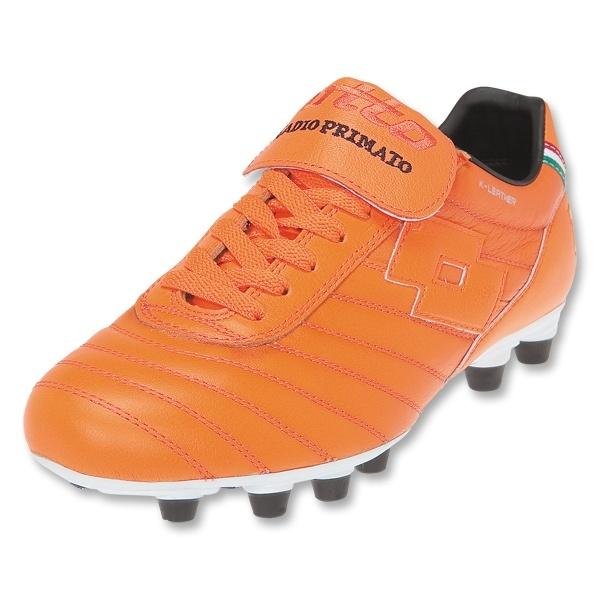 Lotto Stadio Primato K FG Soccer Shoes (Orange/Orange/Black)
