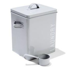 Laundry Powder Tin with Scoop - Grey $9