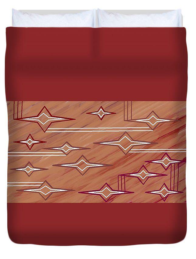 Queen Size Duvet Covers of 'Navajo 9' by Sumi e Master Linda Velasquez.