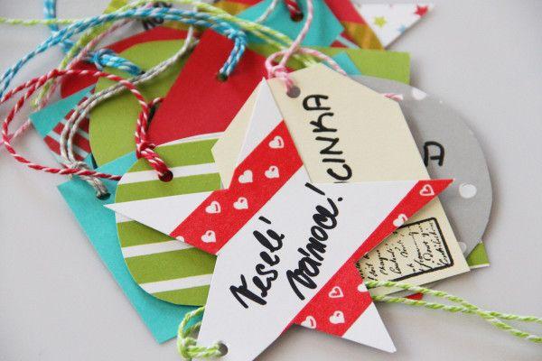 Visačky na vánoční dárky / Christmas paper gift cards: http://www.prosikulky.cz/papirove-vanocni-visacky-na-darky/