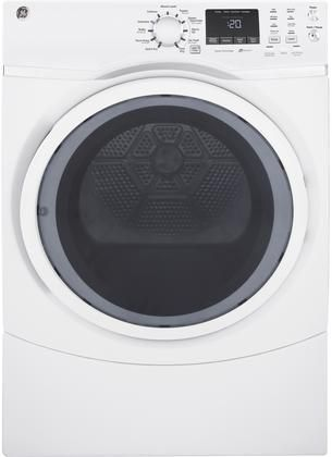 GFD45GSSKWW 27 Front Load Gas Dryer with 7.5 cu. ft. Capacity HE Sensor Dry 13 Dry Cycles Sanitize Cycle Extended Tumble Quick Dry Cycle in White