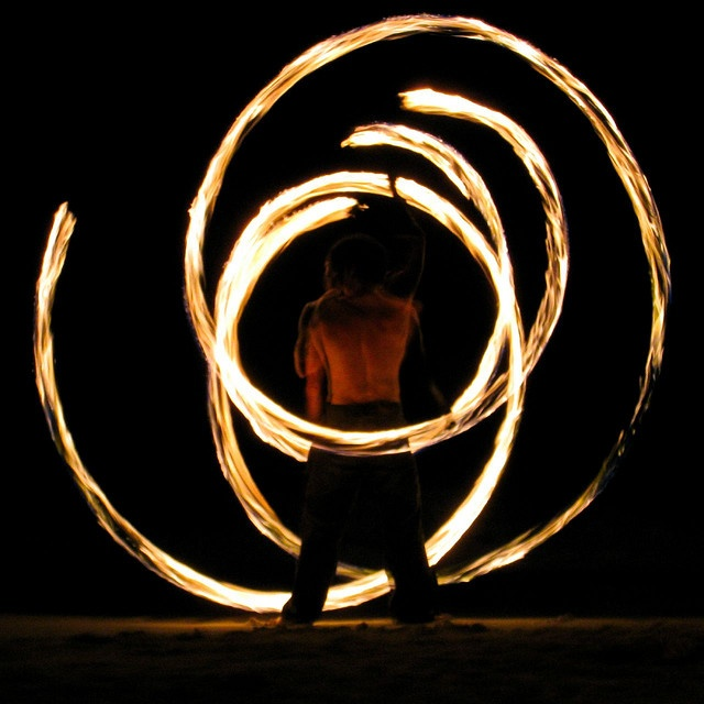 Koh Samet, Thailand. Fire-throwing, the coolest. Done