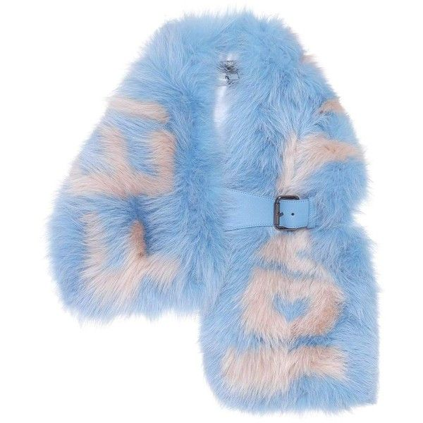 Fendi Fur Scarf ($3,235) ❤ liked on Polyvore featuring accessories, scarves, blue, blue scarves, fur scarves, fendi, fur shawl and fendi scarves