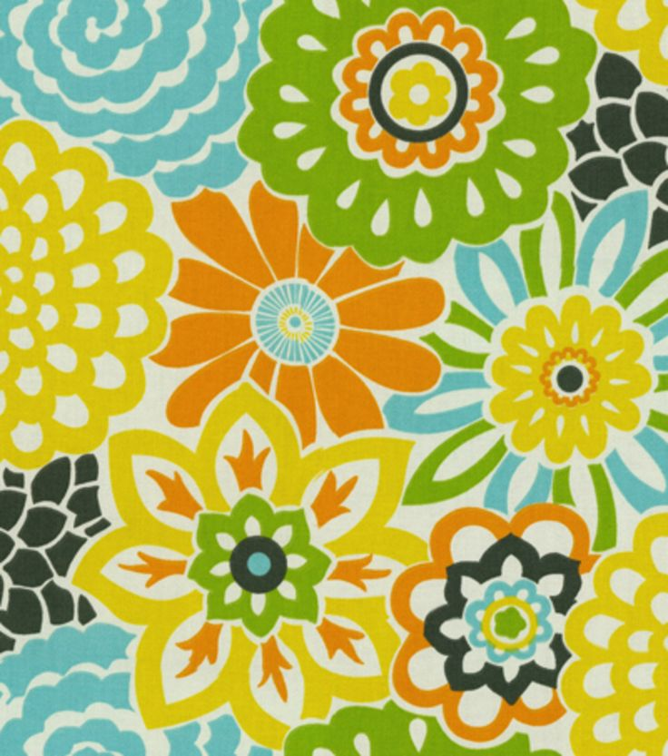 This Retro Flower Fabric Will Make Any Room Bloom Waverly Homedecor Waverize