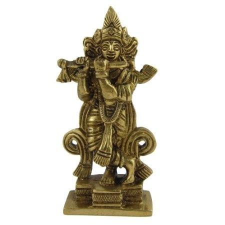 Amazon.com: Hindu God Religious Statue Krishna Brass Sculpture: Home & Kitchen