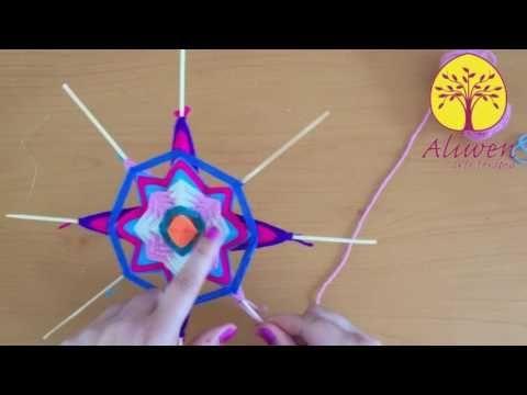 Tutorial de Mandalas tejidos - Cómo hacer pétalos - YouTube
