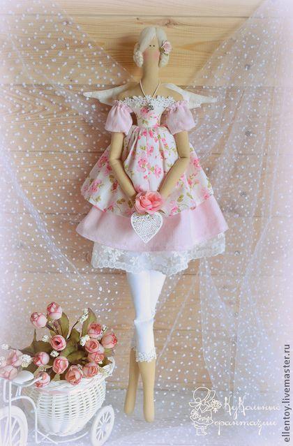 Куклы Тильды ручной работы. Ярмарка Мастеров - ручная работа Цветочный Ангел в стиле Тильда. Handmade.