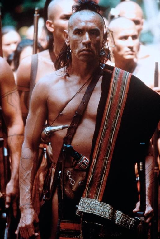 Indian actor,Wes Studi  in film  Last of the Mohicans, liked him better as The Sphinx in Mystery Men