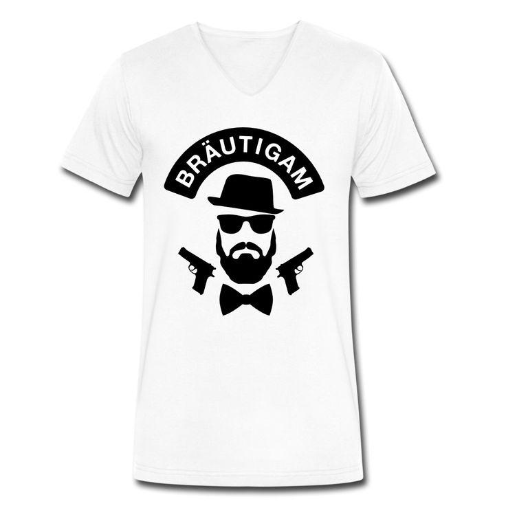 Bräutigam T-Shirt - JGA Shirt - Bachelor - Party - Männer T-Shirt mit V-Ausschnitt