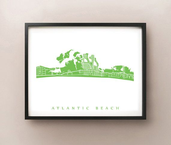 FREE STANDARD SHIPPING on all orders for a limited time! No coupon code required.  Map of Atlantic Beach, Carteret County, North Carolina.  Choose