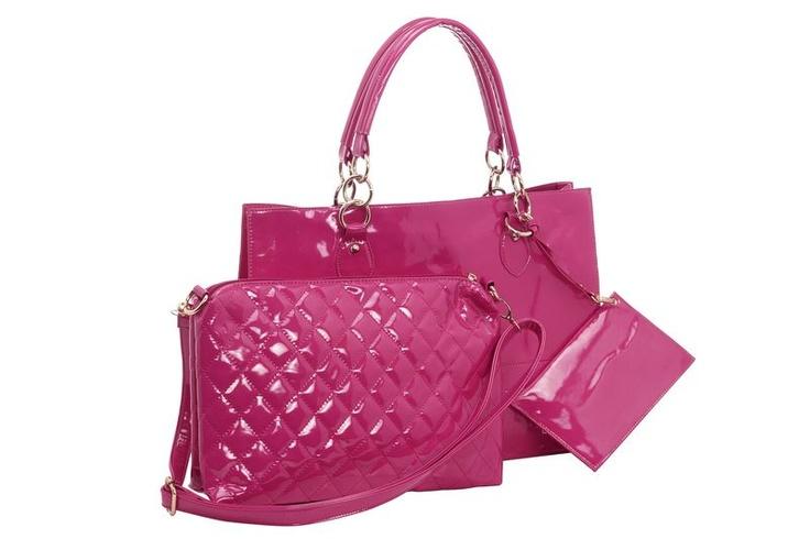 #HeineShoppingliste Tasche in angesagter Lackoptik mit herausnehmbarer Innentasche in pink
