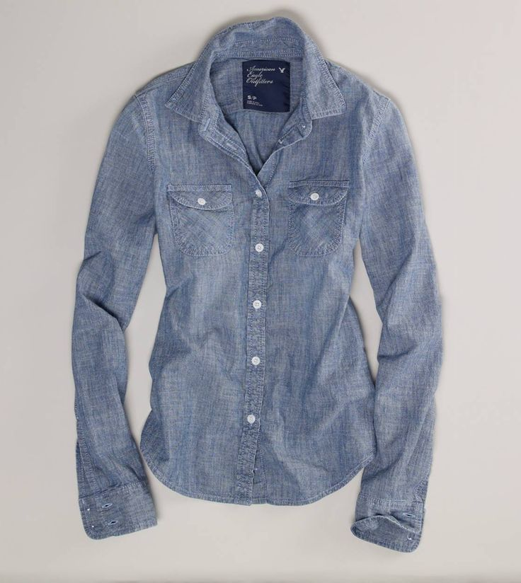 Finally, after multiple purchases at various stores, and multiple returns. I have found the perfect chambray shirt. This is a classic and I am declaring it a wardrobe staple. AE Chambray Western Shirt
