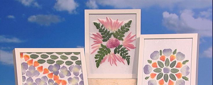 Watch Part 1 & 2           Clinton shows you how to make the perfect Mother's Day gift.Instructions1. Start with a sheet of contact paper cut to size and attach to work surface with tape.* Sheet should be slightly larger than frame. 2. Remove back of contact paper to expose sticky side. 3. Position flowers and greens in decorative design. 4. Place glass from frame on top of contact paper and press down firmly.5. Smooth out any bubbles. 6. Place paper back on top of glass then folder over…
