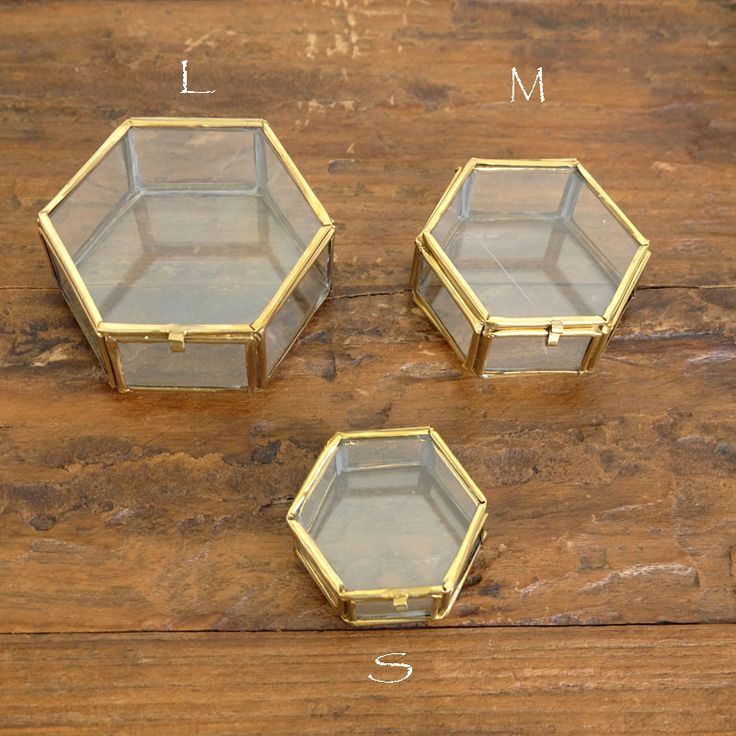 「マライカオンラインショップ」で取り扱う商品「【再入荷】ガラス六角BOX【メール便不可】」の紹介のページです。