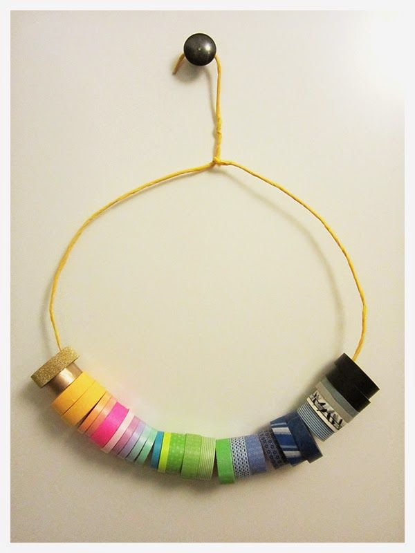 DIY washi tape organizer | Easy and fun project to not only add some color to your office but also to organize your tapes nicely.
