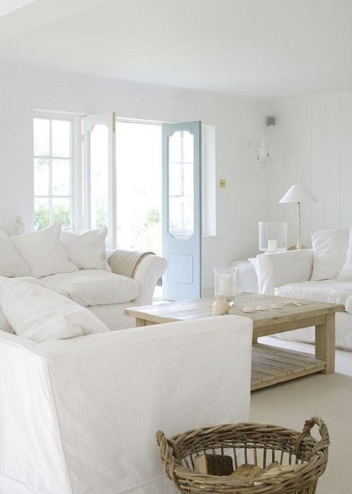 Almost all white living room..