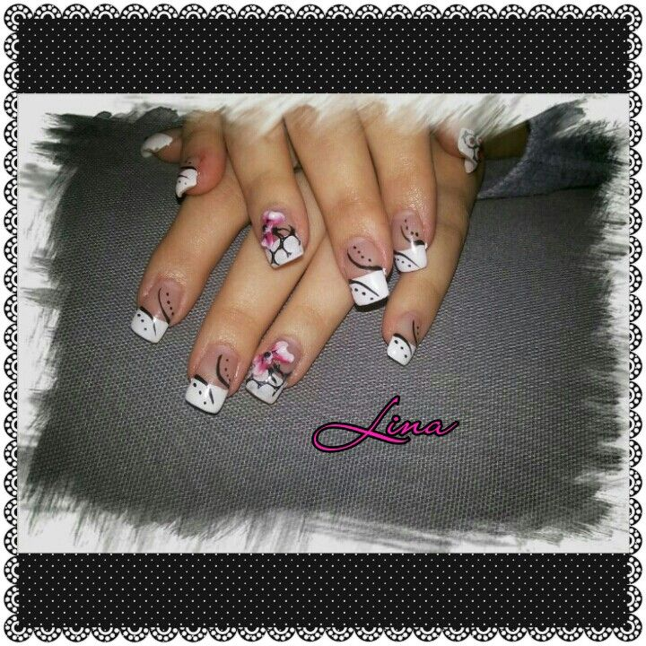 #gel #french #3d #bow #nailart