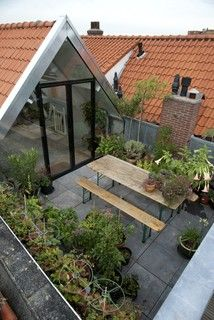 loft appartment Rotterdam Delfshaven - contemporary - patio - other metro - by van der Goes architecten bna b.v.