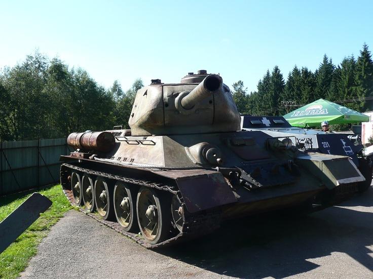 Czech - tank u pevnosti Hanička. Tank at Fort Hanička