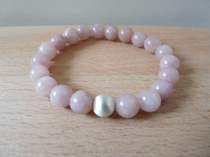 Pink powder jade bracelet 8mm beads, gemstone bracelets jewelry, stretch beaded bracelets mala energy reiki chakra healing jewelry by nkcraftstudio on Etsy