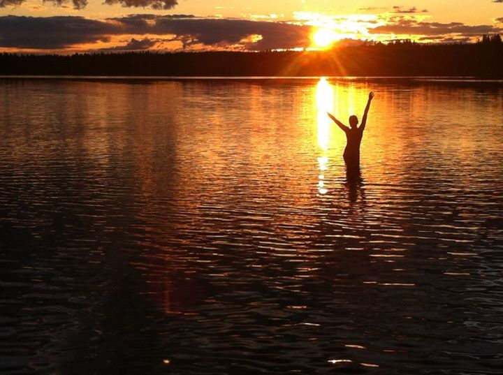 Skinny dipping at the Midnight Sun