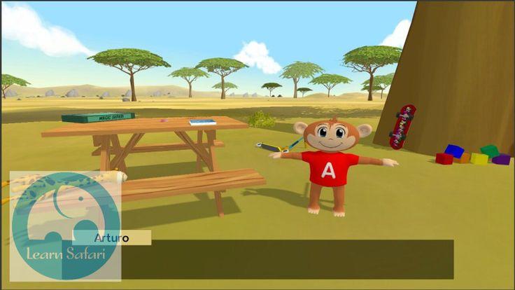 Arturo at the bottom of the Monkey Tree playing games. #learnsafari #learnspanish