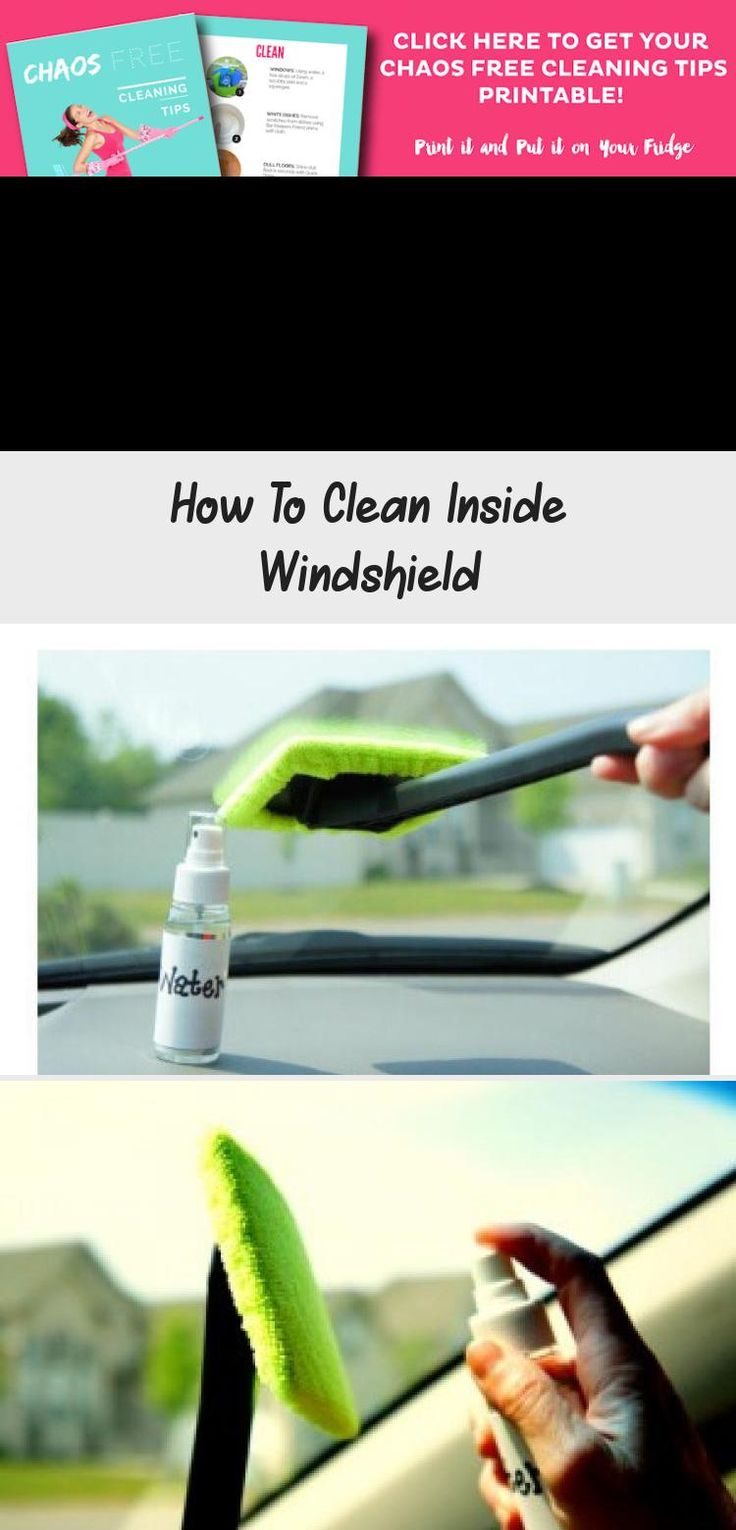 Do you struggle to clean the inside windshield of you car