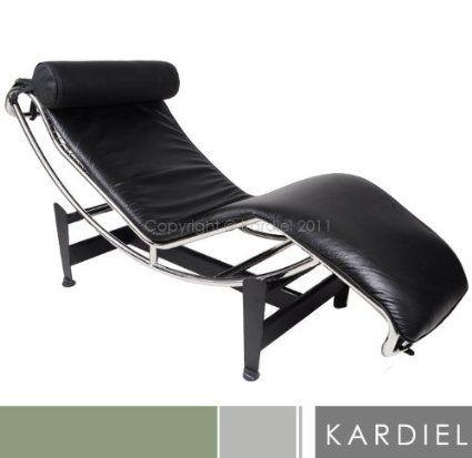 $899 Amazon - Kardiel Le Corbusier Style LC4 Chaise Lounge, Black  Aniline Leather